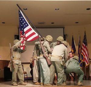 Young Marines Re-enact Iwo Jima Flag Raising